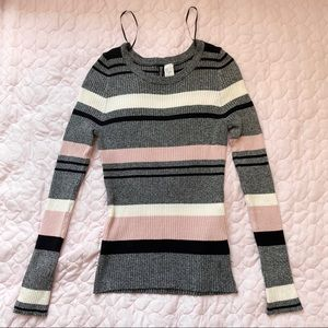 Colour Block Striped Knit Sweater (H&M)
